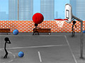 Basquete de Rua do Boneco Palito