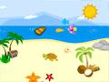 Jogo Rosy Creativity: Beach Decoration