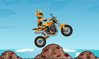 Motorcycle Fun Game : Flip, skid, and jump your way to the accomplishment linejust don't crash!