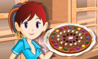 saras cooking class chocolate pizza