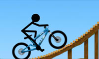 Stickman Freeride Game : Stickman loves adhesive cycling situations.