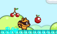 RaccBeat Game : This avaricious raccoon's little belly is cavernous for a snack!