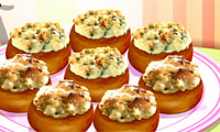 Play Sara's Cooking Class: Stuffed Mushrooms Games
