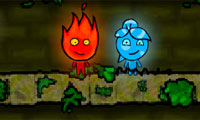 Fireboy and Watergirl: The Forest Temple Game : Fire and water prove opposites attract when they team up to explore the ancient Forest Temple...